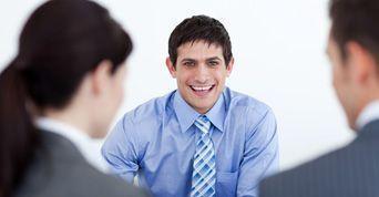 curso de sucesso em uma entrevista de emprego...