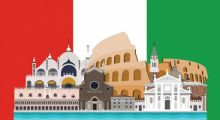 Ilustração - Curso de Italiano Intermediário I